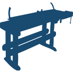 Work bench vector clip art