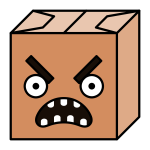 Paper box head vector image