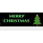 Merry Christmas banner with Christmas tree vector clip art