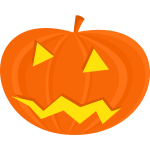 Scary Halloween pumpkin vector drawing