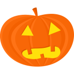 Vector image of angry pumpkin