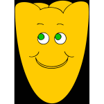 Vector clip art of yellow smiley flower