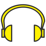 yellow headphone
