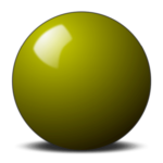 yellow snooker ball