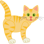 yellow tiger cat