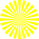 yellow basic star burst