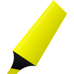 Vector image of yellow highlighter