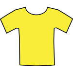 Yellow t-shirt vector clip art