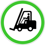 Forklift sign