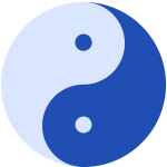 Blue Yin and Yang