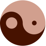 Colored ying-yang