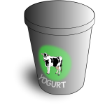 Vector illustration of yogurt cup
