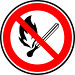 Open fire forbidden vector sign