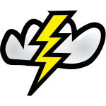 Thunder weather vector icon