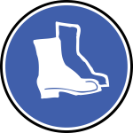 Boot protection sign vector image