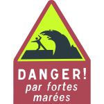 Dangerous waves warning sign vector image