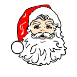 Santa with beard vector image