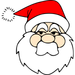 Line art vector  drawing of Santa Claus