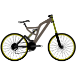 Mountain bike vector graphics