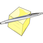 Pen and notepad vector drawing