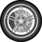 Car wheel in gray color