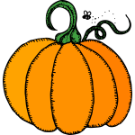 Orange pumpkin vector drawing