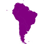 Vector map of South-American continent